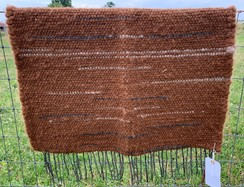 Photo of Handwoven Alpaca Rug- Accented Brown