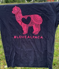 #LOVEALPACA T-Shirt- Blue
