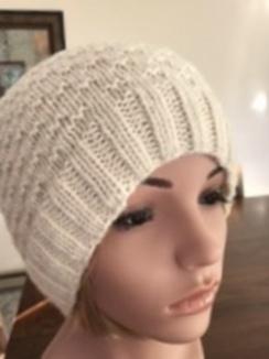 Hat-Ladies slouch hat, winter white