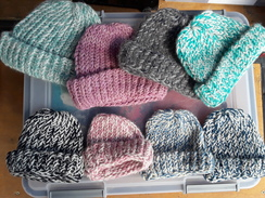 Photo of Hat, New born hand knit alpaca hat