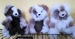 Alpaca Teddy Bears - Sitting