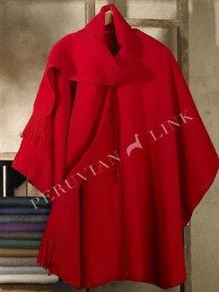 Photo of Lined Woven Alpaca Cape