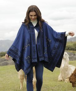Photo of Treasure Reversible Hooded Alpaca Cape