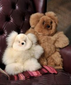 "Photo of 10"" Teddy Bear 100% Baby Alpaca"
