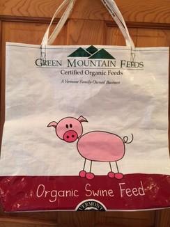 Reusable Tote Bag--Doodle Pig!