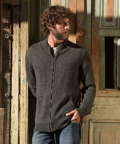 Photo of Men's Full Zip Alpaca Cardigan