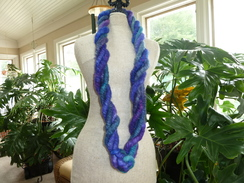Photo of Purple Dyed Alpaca Rug Yarn Necklace