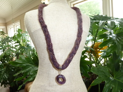 Photo of Muted Color Kumikimo Alpaca Necklace