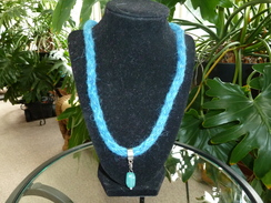 Turquoise Kumihimo Braid Alpaca Necklace