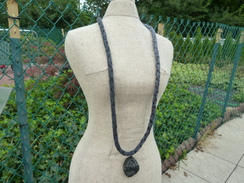 Photo of Grey Kumihimo Braid Alpaca Necklace