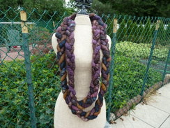 Plum Colored Alpaca Braid Necklace