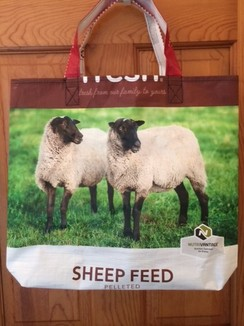 Photo of Reusable Tote Bag-SHEEP FEED