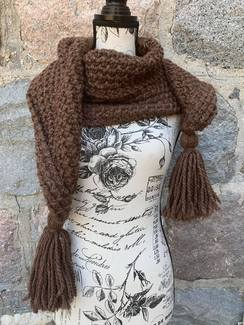 Photo of Brown Scarf with Tassles