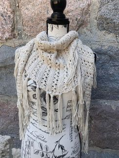 Photo of Cream/Stellina Fringe Scarf