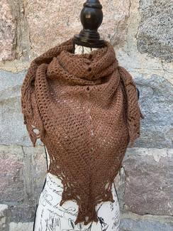 Photo of Lacy Brown Shawl