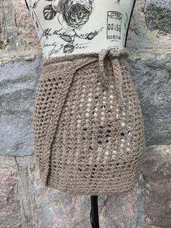 Crochet wrap skirt