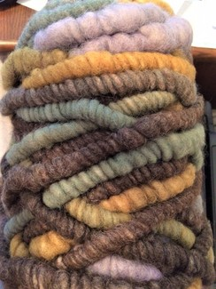 Photo of Yarn-alpaca corespun/wool core rug bump3