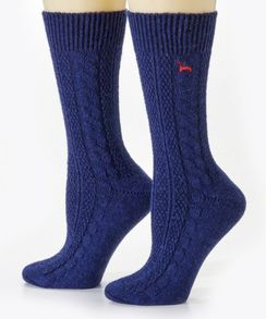 Photo of Cabled Dress Socks