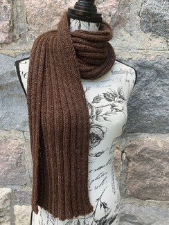 Photo of Chocolate Rib Scarf