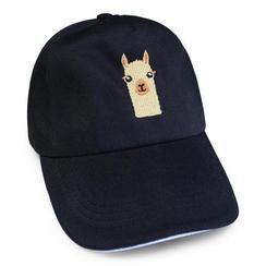 Ball caps with alpaca design
