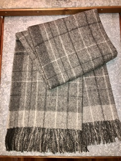 Photo of Blanket- Alpaca Throw- Grey Pattern