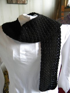 Photo of Crochet Black Scarf