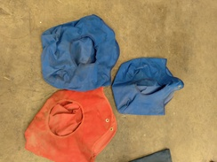 Photo of show pen hay bags
