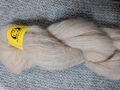 Photo of Lace Alpaca Yarn BRUSHED - Light Fawn