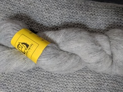 Photo of Lace Alpaca Yarn BRUSHED - Light Grey