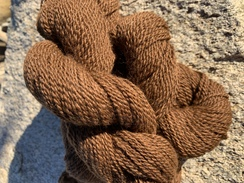 Photo of 100% Alpaca Natural Brown 2 Ply Yarn