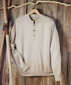 Men's button crewneck