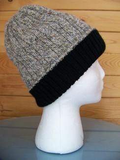Reversible double knit alpaca hat