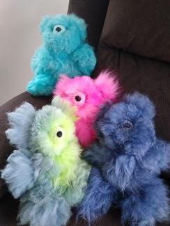 100% Alpaca Bears Hand-Dyed