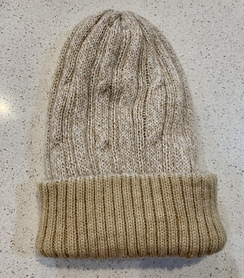 Alpaca reversible knit hats - Beige