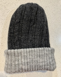 Photo of Alpaca reversible knit hats - Dark Grey