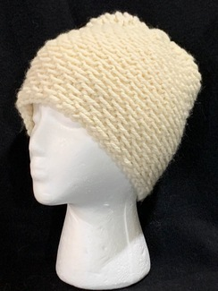 Knitted Alpaca (70%) Honeycomb Hat
