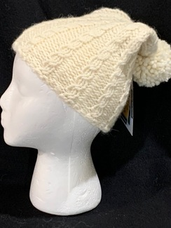Knitted Alpaca (70%) Cable Stitch Hat