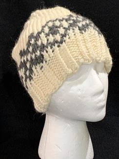 Knitted Alpaca Snowflake Hat