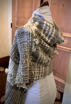 Photo of Hand-woven alpaca shawl