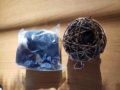 Alpaca fiber nesting ball