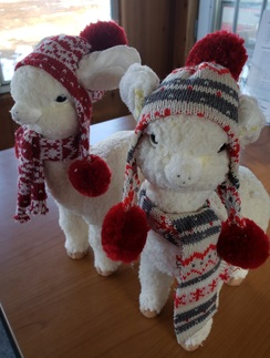 Standing Holiday Alpaca