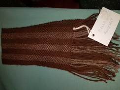 Photo of 100% alpaca hand woven scarf