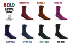 Photo of Survival Socks Crew Limited Colors/Sizes