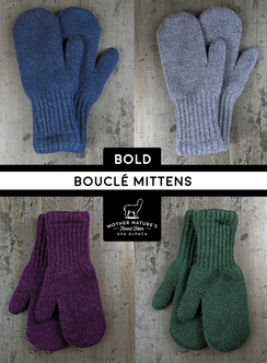 Lined Mittens, socks of various weights