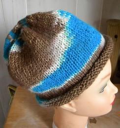 Colorful alpaca hat