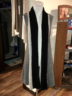 Alpaca Boucle Sweater Vest- Greys/Black