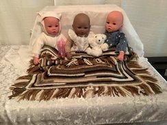 Baby crib blanket or Lap Throw