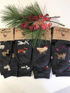 Photo of Alpaca Bamboo Printed Sock