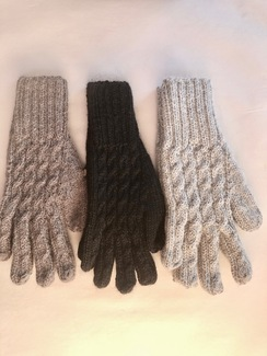 TRENZA CABLE ALPACA GLOVES BLEND