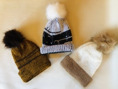 Photo of Hopeful Hills Alpaca Pom-Pom Hats
